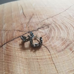 Jewelry - 2/$50 Sterling Silver Crown hoops